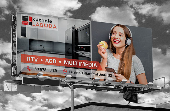 "Billboard Studia mebli kuchennych ""Kuchnie Labuda""."